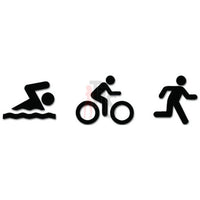 Triathlete Triathlon Ironman Sports Decal Sticker Style 4