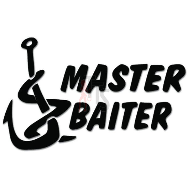 Master Baiter Fish Fishing Hook Lure Decal Sticker Style 2