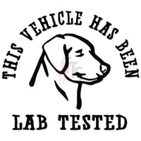 Vehicle Lab Tested Labrador Dog Decal Sticker Style 2