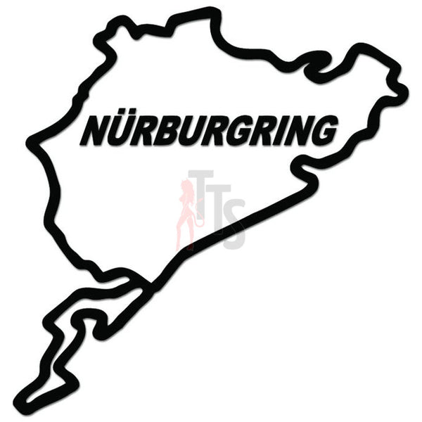 Nurburgring Race Track Germany Euro Decal Sticker