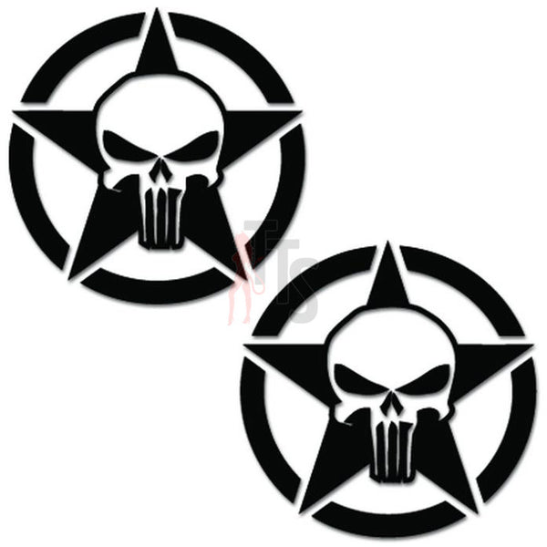 Punisher Skull Death Star Decal Sticker