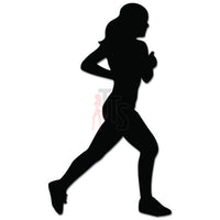 Women Running Marathon Decal Sticker Style 1