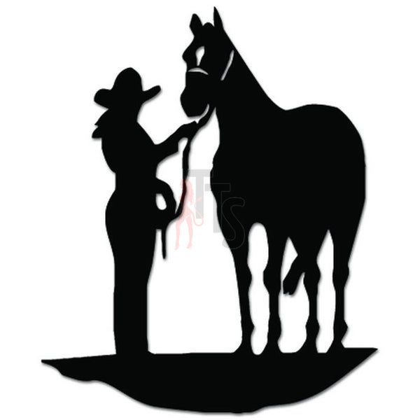 Cowgirl Horse Decal Sticker