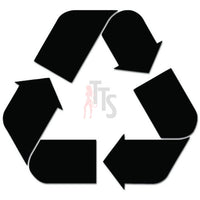 Recycle Symbol Decal Sticker Style 2