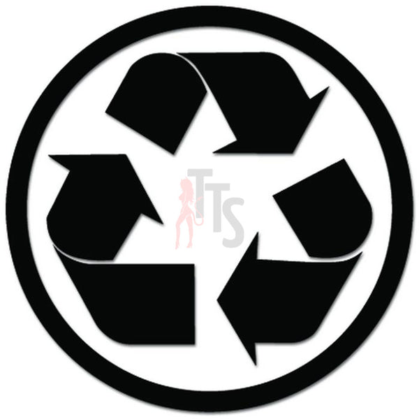Recycle Symbol Trash Can Decal Sticker Style 1