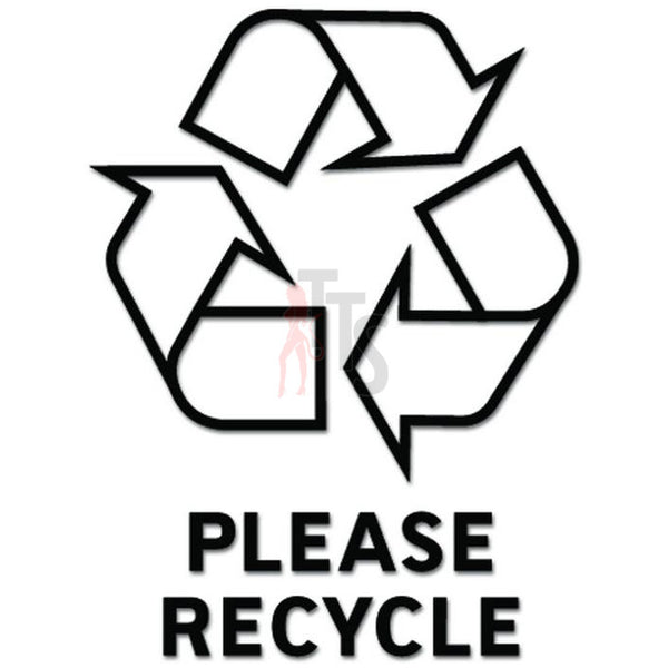 Recycle Symbol Trash Can Decal Sticker Style 2