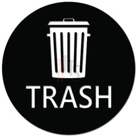 Trash Symbol Bin Decal Sticker Style 4