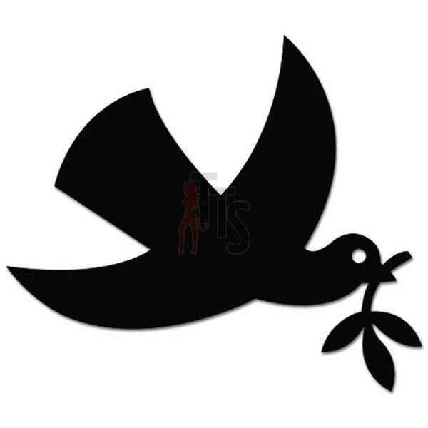 Dove Bird Peace Olive Branch Decal Sticker Style 1