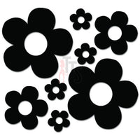 Groovy Flowers Decal Sticker Style 1