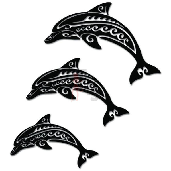 Tribal Dolphin Family Decal Sticker