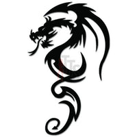 Tribal Dragon Decal Sticker Style 1