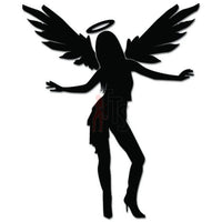 Sexy Angel Girl Wings Decal Sticker