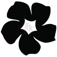 Groovy Whirly Flower Decal Sticker
