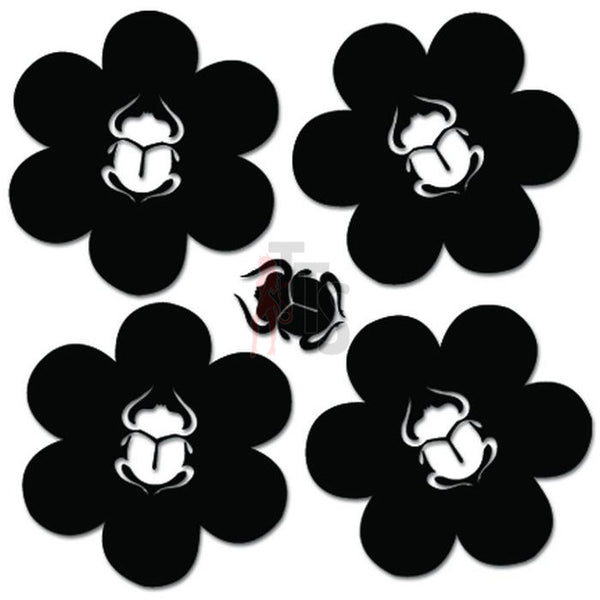 Groovy Beetle Bug Flowers Decal Sticker