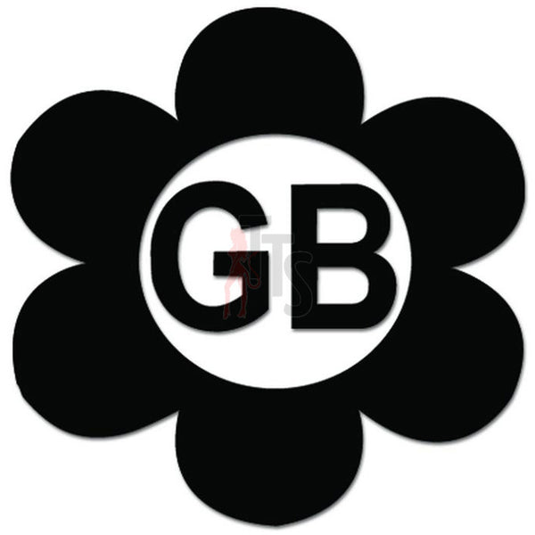 Groovy Beetle Bug Flower Great Britain Decal Sticker