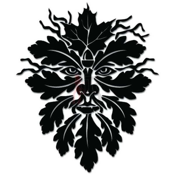 The Tree Man Leaves Face Decal Sticker