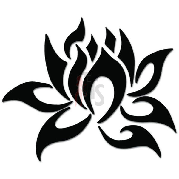 Lotus Flower Tribal Art Decal Sticker