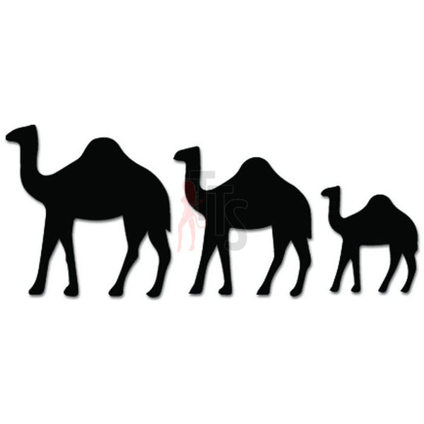 Camel Family Animal Desert Decal Sticker