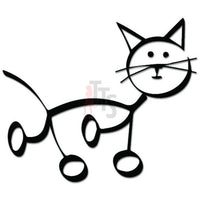 Cat Walking Pet Decal Sticker
