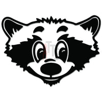 Cute Raccoon Face Animal Decal Sticker
