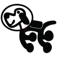 Dog Astronaut Pet Decal Sticker