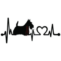 Scottish Terrier Dog Pet Heartbeat Decal Sticker