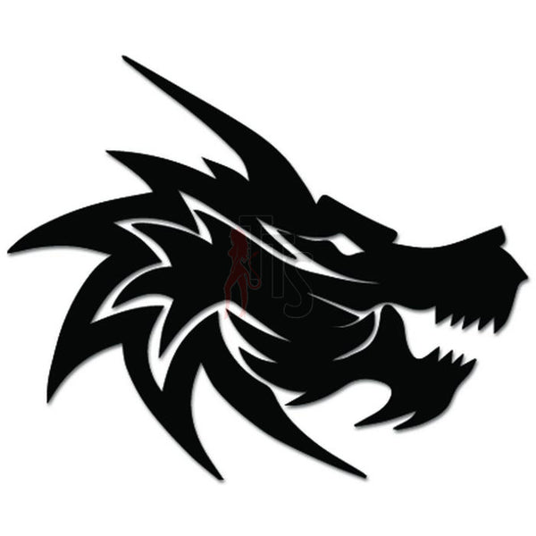 Dragon Head Decal Sticker Style 2