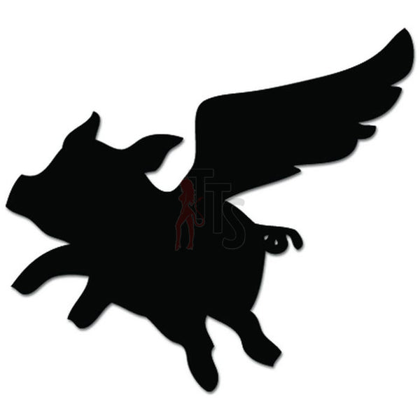 Flying Pig Animal Decal Sticker