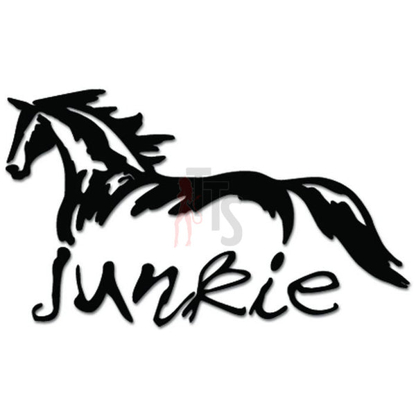 Horse Junkie Animal Decal Sticker