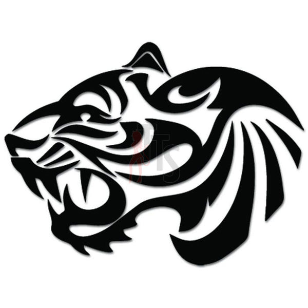 Tiger Tribal Art Decal Sticker Style 3