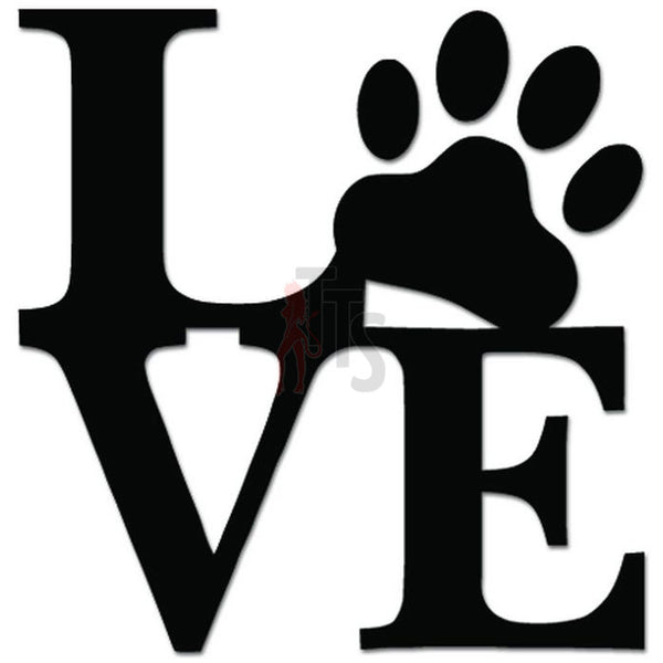 Dog Pet Love Animal Decal Sticker