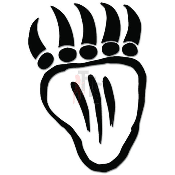 Bear Claw Tribal Art Decal Sticker Style 2