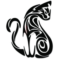Cat Sitting Tribal Art Decal Sticker
