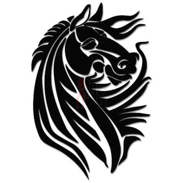 Horse Stallion Tribal Art Decal Sticker Style 2
