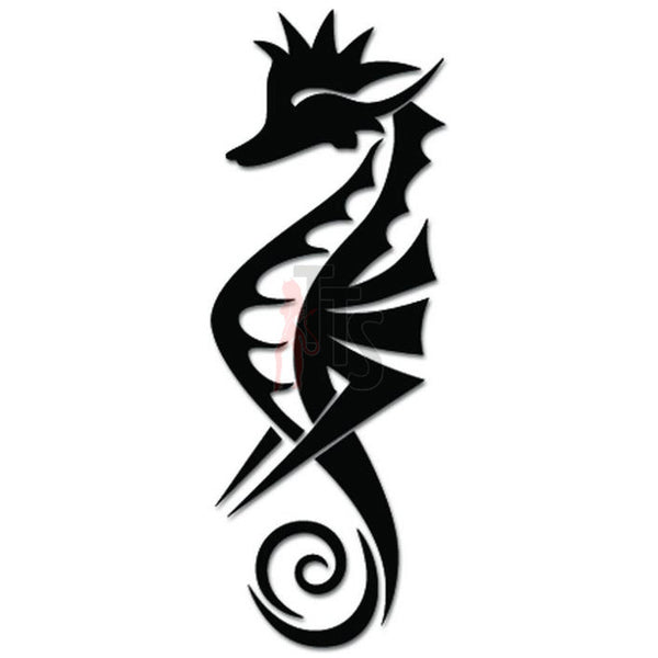 Seahorse Fish Tribal Art Decal Sticker