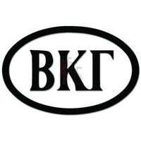Beta Kappa Gamma Greek Fraternity Decal Sticker