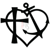 God Is My Anchor Love Chriistian Decal Sticker