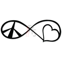 Peace Love Forever Infinity Symbol Decal Sticker