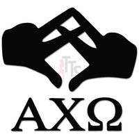 Apha Chi Omega Greek Sorority Hands Sign Decal Sticker