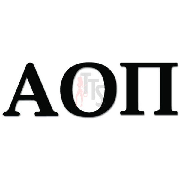 Apha Omicron Pi Greek Sorority Decal Sticker
