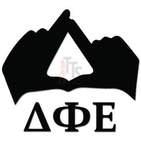 Delta Phi Epsilon Greek Sorority Hands Sign Decal Sticker