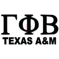 Gamma Phi Beta Texas A&M Greek Sorority Decal Sticker