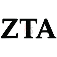 Zeta Tau Alpha Greek Sorority Decal Sticker