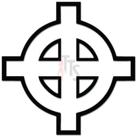 Celtic Cross Decal Sticker Style 1