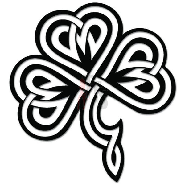 Celtic Shamrock Irish Cloverleaf Decal Sticker