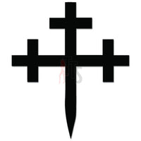 Cross Crosslet Fitchy Christian Decal Sticker