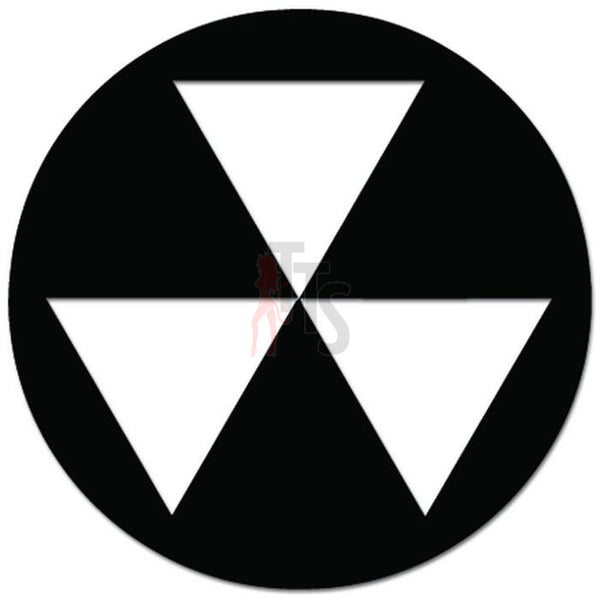 Fallout Shelter Nuke Symbol Decal Sticker