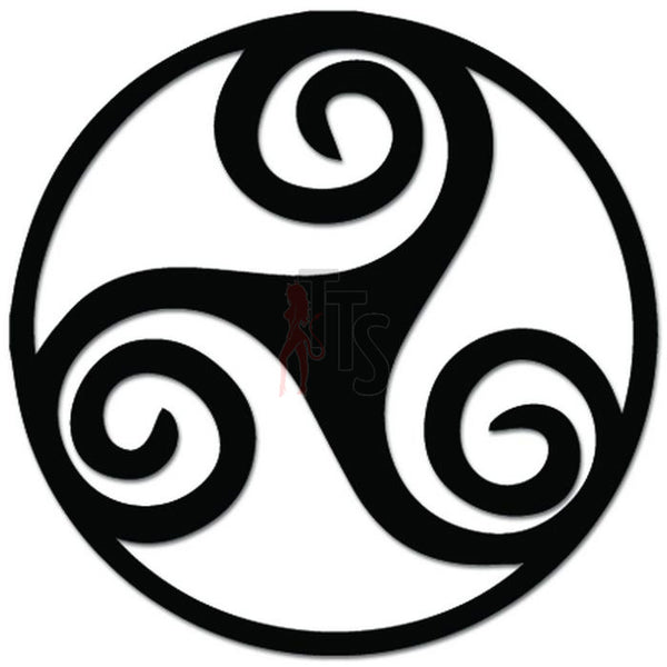 Triskelion Celtic Decal Sticker Style 2