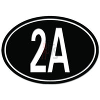 2nd Amendment Oval Guns Right Decal Sticker