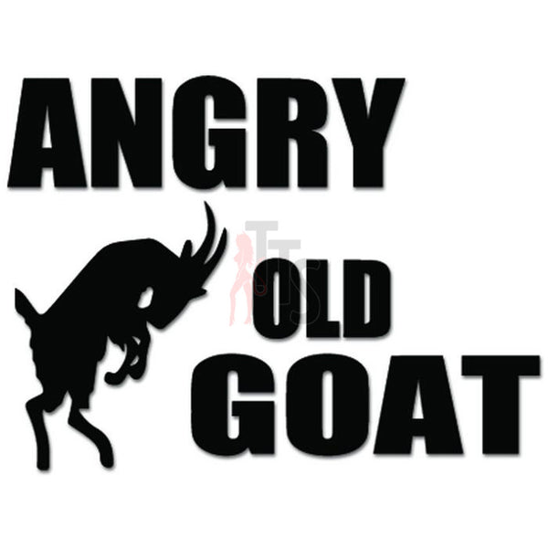 Angry Old Goat Decal Sticker